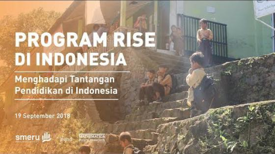 Embedded thumbnail for RISE Programme in Indonesia: Facing the Challenges of Education in Indonesia