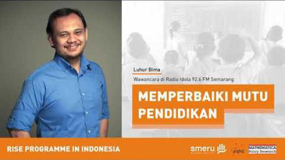 Embedded thumbnail for Memperbaiki Mutu Pendidikan | Wawancara dengan Luhur Bima di Idola FM